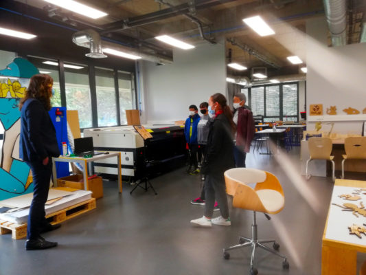 Visite d'une classe de 3e du collège Jules Verne